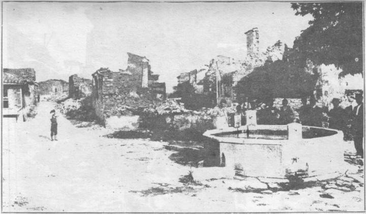 Једна од спаљених вароши током балканских ратова 1912-1913.